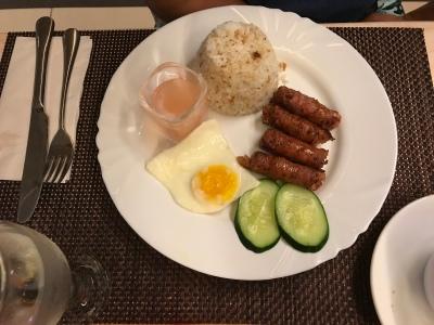 Lucban Longganisa with egg and garlic rice