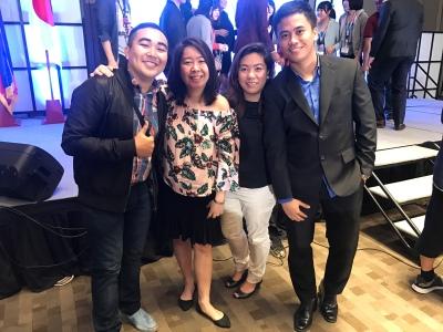 Mini-reunion with Yong Danao, Cristabeth Madrigal, and Irene Bel in JENESYS Alumni Mini-Reunion