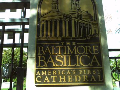 Visit the Baltimore  Basilica  for some peace and reflection .  The Pope John Paul  the Sixth Garden right outside is beautiful