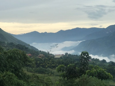 Morning view from our homestay